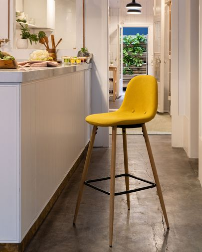 Mustard Nolite barstool height 75 cm