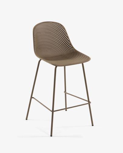 Beige Quinby stool height 75 cm
