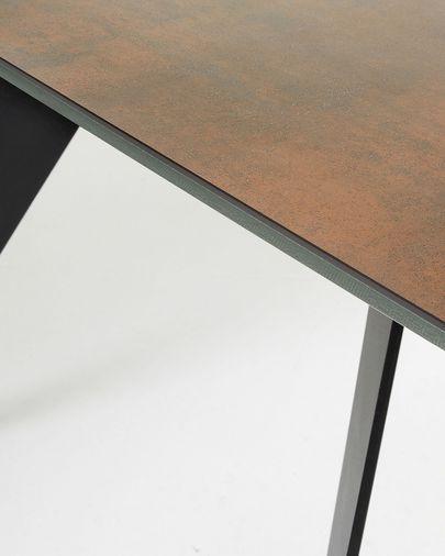 Tavolo Koda 200 cm cristallo gambe nero