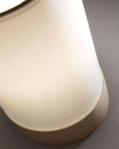 Lámpara de sobremesa Slat de algodón y madera de haya