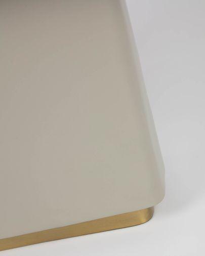 Lampe Clelia en métal peint beige et gris foncé