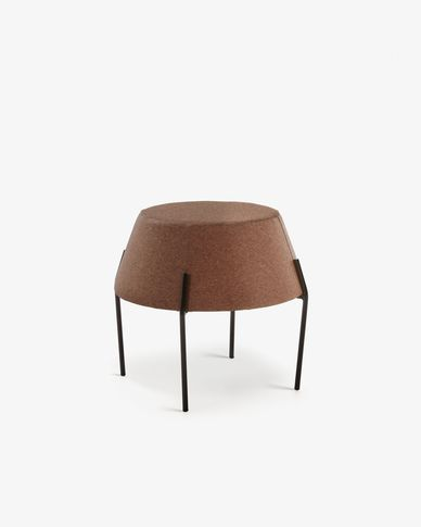 Button side table in dark cork Ø 50 cm