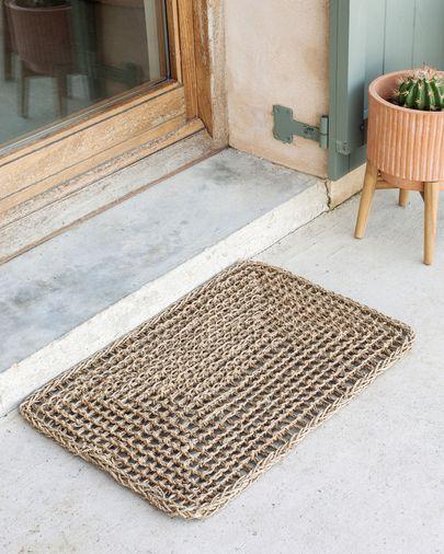 Tapete Yariela fibras naturais 60 x 40 cm