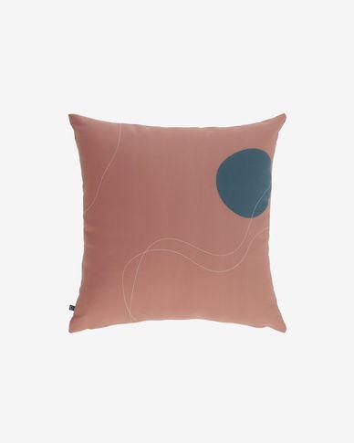 Abish kussenhoes geometrische vormen bruin 45 x 45 cm