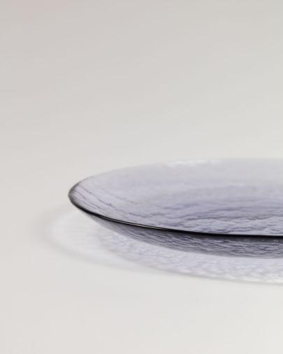 Plato de postre Rori de cristal lila