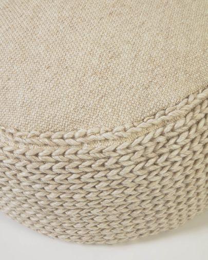 Puf redondo Lillii de PET beige Ø 70 cm
