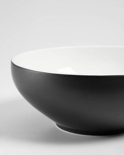 Bol Sadashi grand en porcelaine noir et blanc