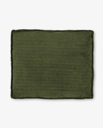 Blok Kissen 50 x 60 cm grüner Cord