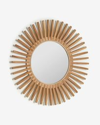 Ena round solid teak table, 79 cm