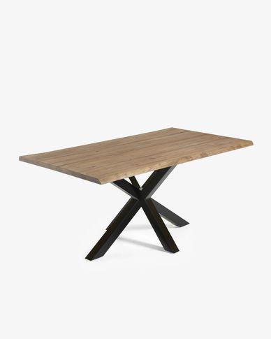 Argo table 180 cm antique oak black legs
