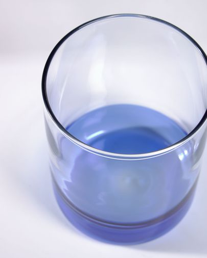 Transparant en blauw glas Dorana