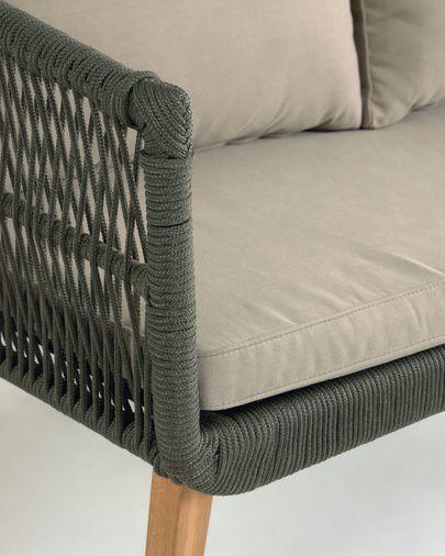Set Inti de sofá 2 lugares e 2 poltronas em corda verde FSC 100%
