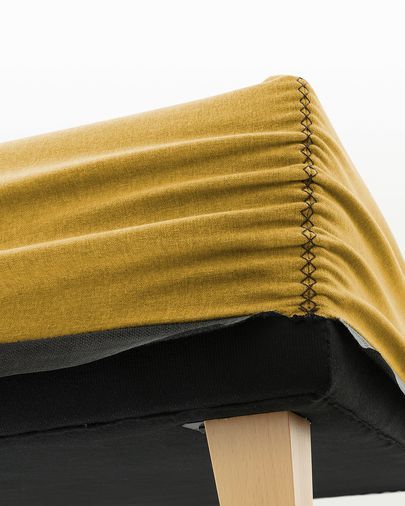 Nikos hohes Bettgestell 180 x 200 cm, senfgelb