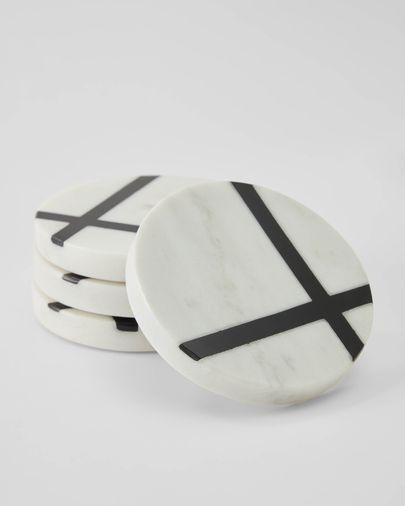 Imeris 4 marble coasters set