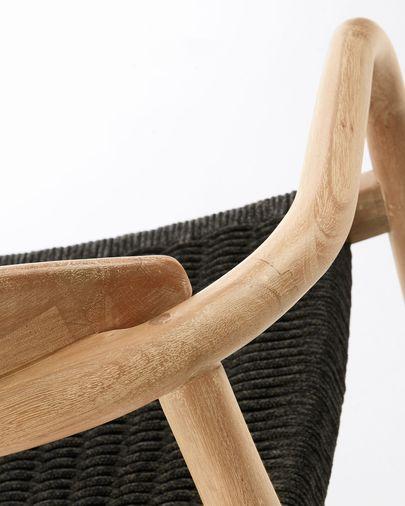 Nina Stoel zwart eucalyptus FSC 100%