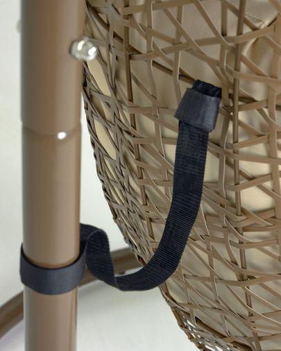 Florina hangstoel met bruine voet