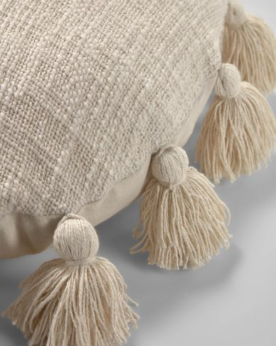 Poszewka na poduszkę Chiarina Ø 45 cm beżowa