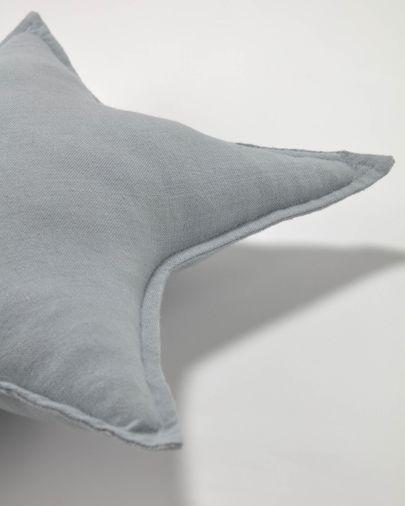 Noor Kissen, grauer Stern, 100% Bio-Baumwolle (GOTS), 44 x 30 cm