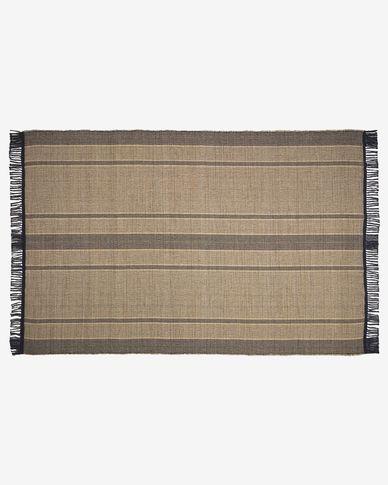 Brunilda black and brown rug 200 x 300 cm