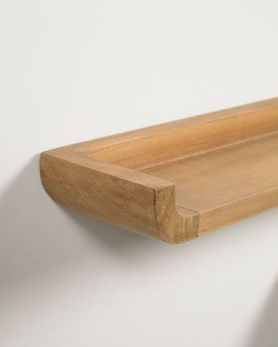 Shamel set of 2 solid teak shelves 50 x 5 cm