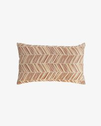 Uriana 100% cotton cushion cover in brown and yellow 30 x 50 cm