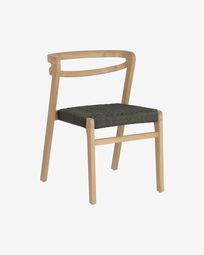 Ezilda chair made from solid eucalyptus wood and green cord FSC 100%