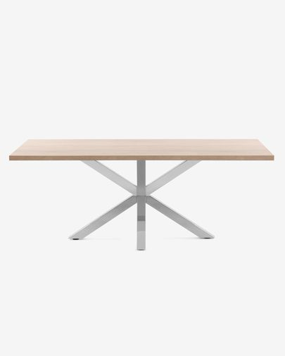 Argo table 180 cm natural melamine stainless steel legs