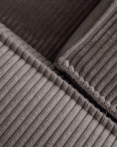 Sofá rinconero Blok 4 plazas pana gris 290 x 290 cm