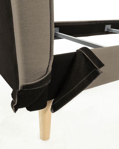 Funda de cama Venla, 160x200cm marrón