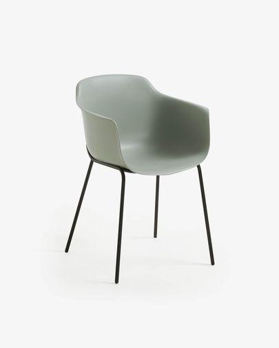 Grijskleurige stoel Khasumi