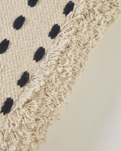 Funda cojín Agripa 100% algodón natural y negro 45 x 45 cm