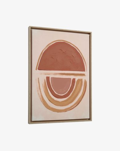 Tableau Gara 50 x 70 cm saumon