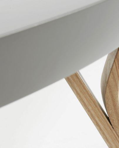 Tavolino Dilos Ø 90 cm grigio e frassino
