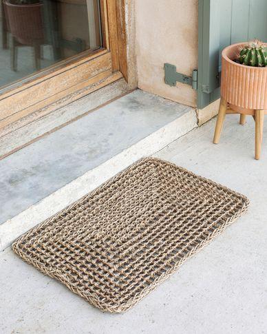 Tappetino Yariela in fibre naturali 60 x 40 cm