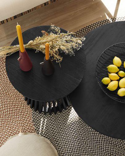 Jeanette Ø 80 cm black coffee table