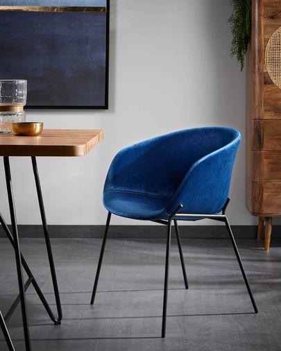 Cadira Yvette vellut blau