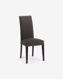 Graphite and black Freda chair