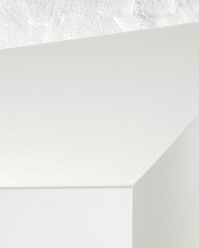 Espejo Misty de madera maciza de ayous 59 x 159 cm blanco