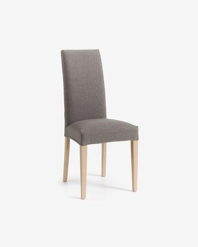 Grey and natural Freda chair