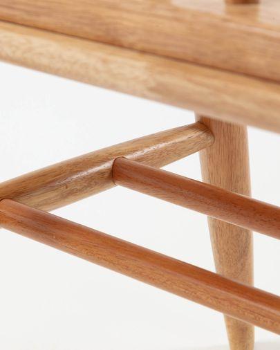 Banco Slover natural de madera maciza de caucho 120 cm
