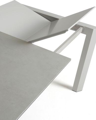 Axis uitschuifbare tafel 140 (200) cm porselein afwerking Hydra-draad grijs benen