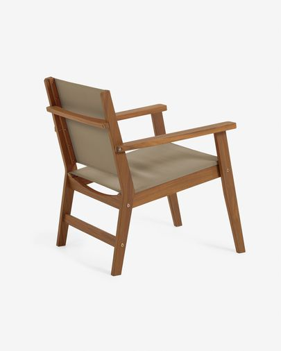 Hilda solid acacia outdoor armchair in green FSC 100%