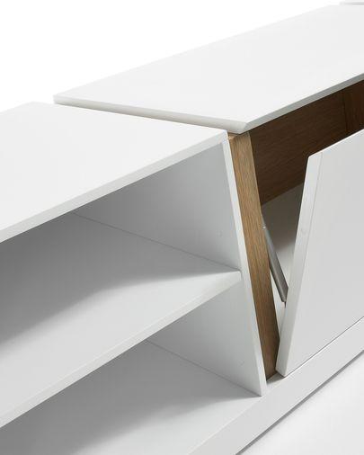 DE TV stand 140 x 42 cm white