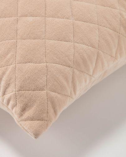 Fodera cuscino Carmin 45 x 45 cm velluto rombi rosa