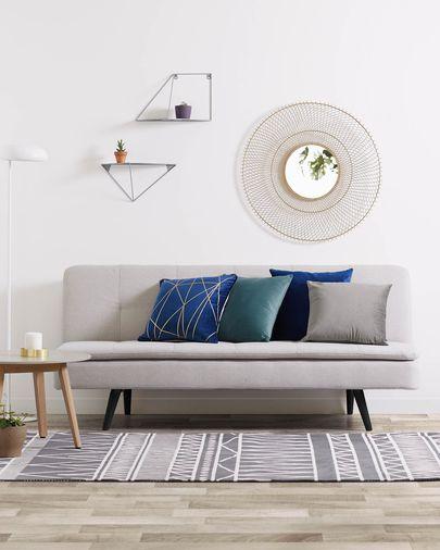Lita cushion cover 45 x 45 cm blue velvet