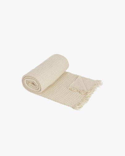 Manta Amarilys 100% algodón blanco 130 x 170 cm