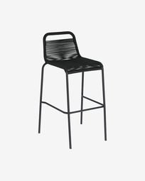 Lambton black stool height 74 cm