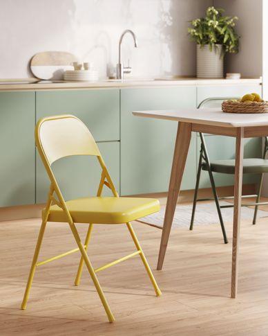 Aidana metal folding chair in mustard