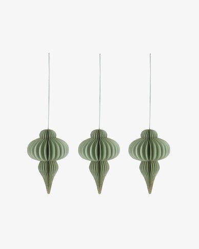 Set Yukii de 3 penjolls decoratius verd