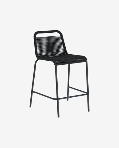 Lambton black stool height 62 cm